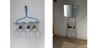 Wine Rake and Lamp Stand